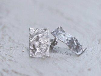 薄氷mat pierce silver925ロジウムコーティングの画像