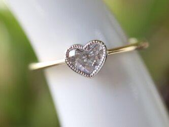 ハートダイヤモンド指輪の画像