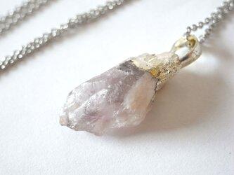 鉱石ネックレス 天然石アメジストの結晶 Bの画像