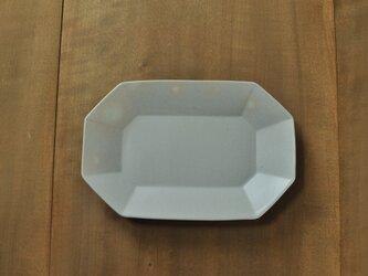 八角長8寸皿/白の画像