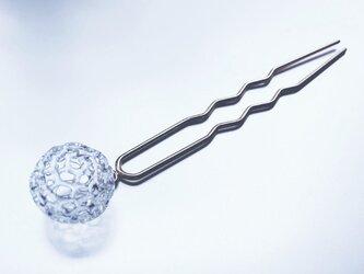 Dentelle sphere Kanzashi Goldの画像