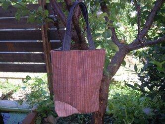 西陣織り トートバッグ(細い縦縞)の画像