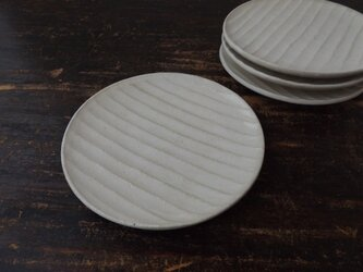 粉引き面取り中皿の画像
