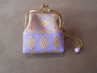 カッチリがま口/淡紫カラフルの画像
