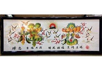 横浜中華街開運風水花文字、お客様の名前を書きます。飾るだけ開運風水になります。プレゼントお土産贈り物とし最高。の画像