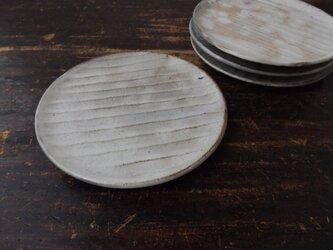 さび粉引き面取り中皿の画像