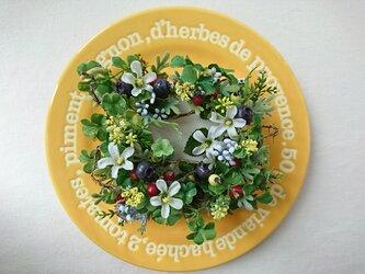 canvas wreath A  ( クローバー )の画像