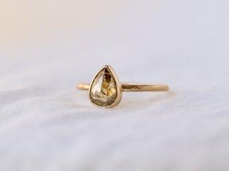 Frosted Bezel Diamond Ring Champagne Khaki dropの画像