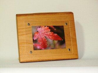 おしゃれな木のフォトフレーム No.16栗の天然木(L-16)の画像