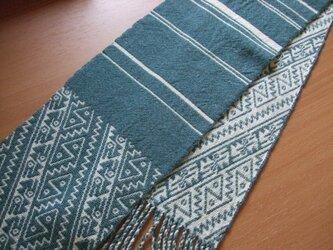 二重織りのミニマフラーの画像