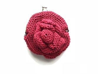 薔薇のがま口の画像