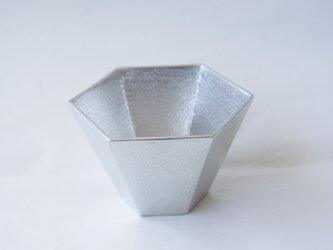 純錫製 大「六角ぐい呑み」の画像