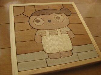 木製パズル(オーバーオール)の画像