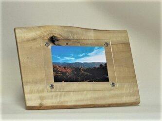 木製写真立て 壁掛け対応 No.4朴の天然木(KG-4)の画像