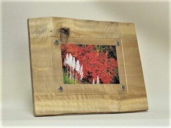 木製写真立て 壁掛け対応 No.5朴の天然木(KG-5)の画像