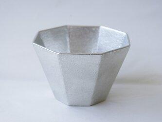 純錫製 大「八角ぐい呑み」の画像