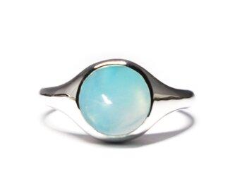 青空のブルーオパール8mmミニマルリング・SV925【Pio by Parakee】Blue opal ringの画像