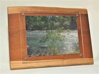 木製壁掛けフォトフレームA4サイズ対応 No.1朱里桜の天然木の画像