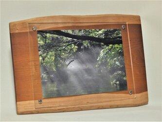 木製壁掛けフォトフレームA4サイズ対応 No.4朱里桜の天然木の画像