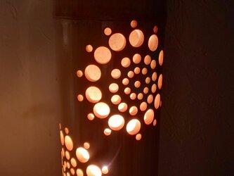 竹のランプシェード花火小の画像