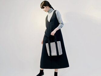 ジャンパースカート ワンピース ブラック ●ANOUK●の画像