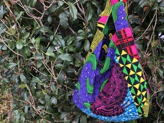 オーダー品b366-アフリカ布ecoバッグの画像
