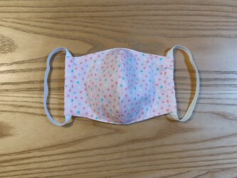 ハート立体マスクL (ピンク)の画像