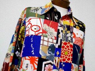 着物パッチワークシャツ ・ボロリスペクト MS-135/M patchwork Shirtの画像