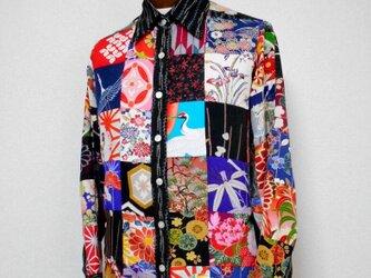 着物パッチワークシャツ ・ボロリスペクト MS-134/S patchwork Shirtの画像