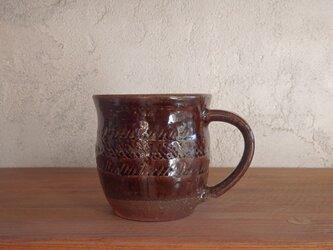 mug cup L(印紋)・brownの画像
