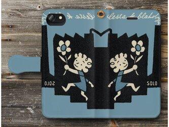 【アンティークマッチラベル レトロ 北欧】スマホケース手帳型 全機種対応 iPhone11 iPhoneXRの画像