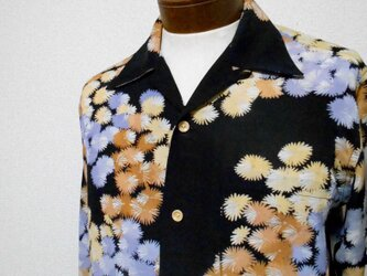 着物アロハシャツ Kimono Aloha Shirt AL-640/Mの画像