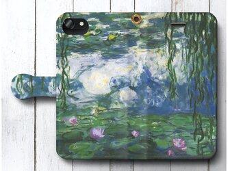 【クロード モネ 睡蓮6】スマホケース手帳型 全機種対応 iPhone11 Galaxyの画像