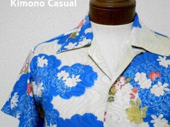 着物アロハシャツ Kimono Aloha Shirt AL-642/Mの画像
