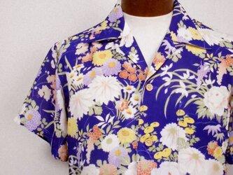 着物アロハシャツ Kimono Aloha Shirt AL-643/Mの画像