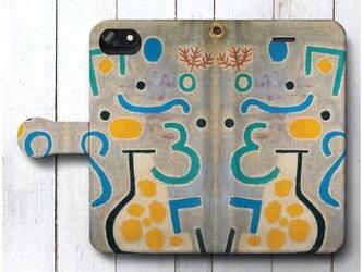 【パウル クレー 花瓶】スマホケース手帳型 全機種対応 iPhone11 AQUOSの画像
