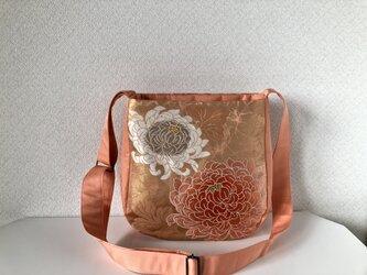 帯バッグ〜菊のショルダーバッグ〜の画像