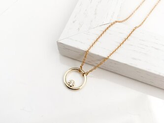 Cubic Zirconia circle necklaceの画像