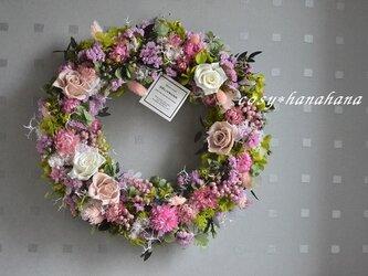 【母の日2020】wreathイングリッシュガーデンローズの画像