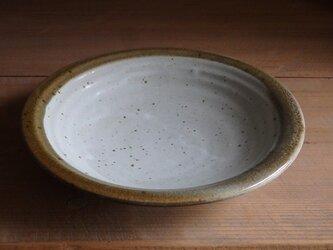 7寸皿・フチ茶の画像