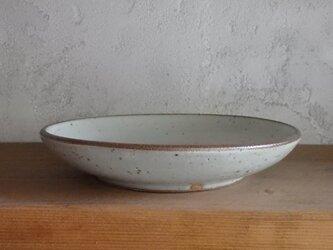 7寸浅鉢・white - brownの画像