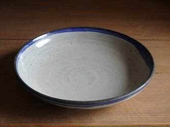 7寸浅鉢・フチ青の画像