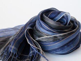 手織りシルクストール【深月*01】の画像