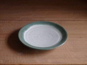 5寸平皿・フチ緑の画像