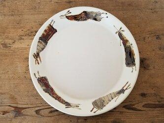ぐるっと飛ぶウサギ皿の画像