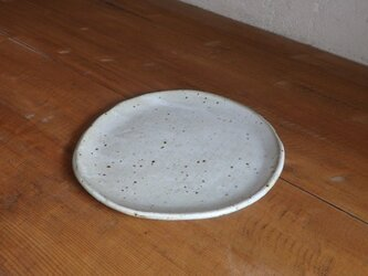 6寸タタラ皿・whiteの画像