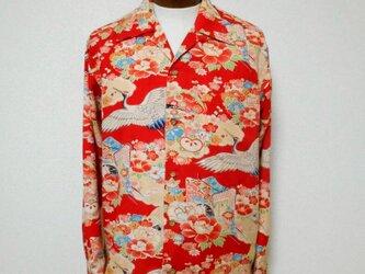 着物アロハシャツ Kimono Aloha Shirt AL-629/Lの画像