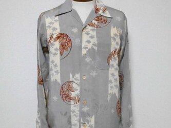 着物アロハシャツ Kimono Aloha Shirt AL-631/Mの画像