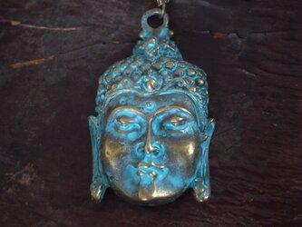 ネックレス アンティーク調 仏像の顔の画像