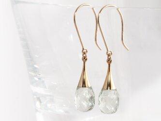 Drop earrings / Prasioliteの画像